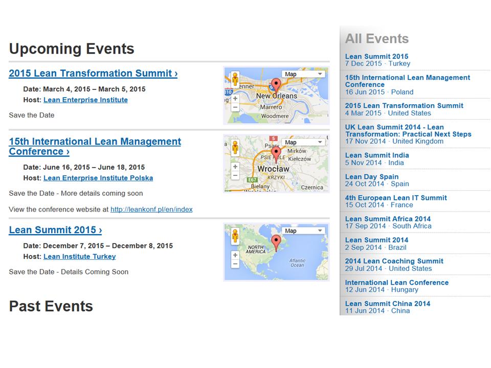 Lean Transformation Summit 2015
