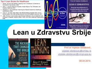 Lean u Zdravstvu Srbije - predavanje u UC Beograd Original