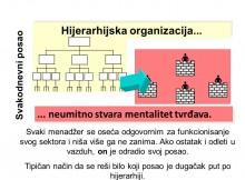 Hijerarhijska organizacija stvara mentalitet tvrđave