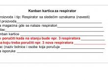 Kanban kartica za respirator